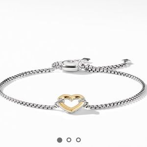 NEW David Yurman Cable Collection Heart Station
